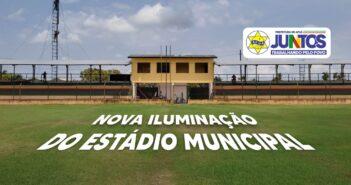 Estádio Municipal Décio Quintas recebe nova iluminação